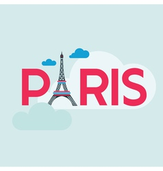 Paris Card - with Eiffel Tower vector image