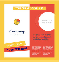 pie chart company brochure template busienss vector image