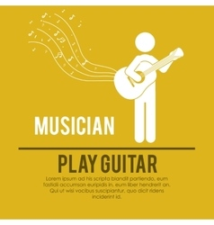 play guitar design vector image