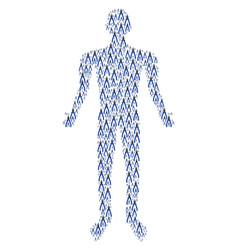 pliers human figure vector image