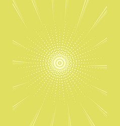 pop art background in green rays of the sun a vector image