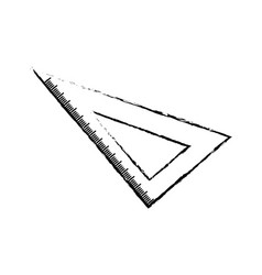 Set square ruler vector