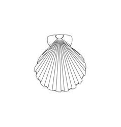 Shell sea marine flat icon vector