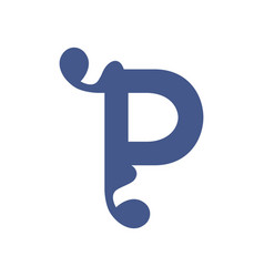 sign of the letter p vector image