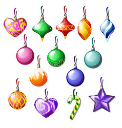 sketch with christmas tree decorations isolated vector image