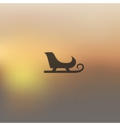 Sledge icon on blurred background vector