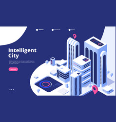 smart city concept urban digital innovation vector image