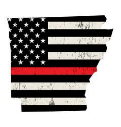 state arkansas firefighter support flag vector image