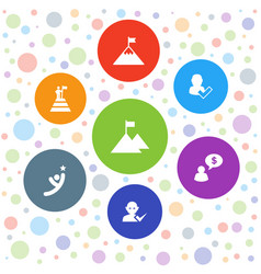 Successful icons vector