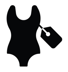 Swimsuit icon summer sale related vector