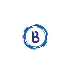 technology letter b vector image