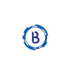 Technology letter b vector