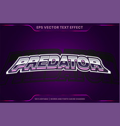 Text effect in predator words font styles theme vector