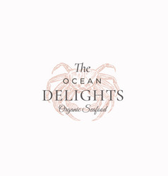 The ocean delights abstract sign symbol or vector