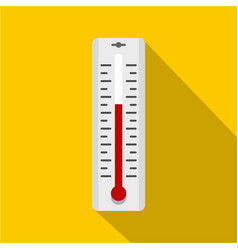 thermometer with degrees icon simple style vector image