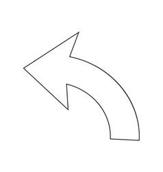 Undo icon sign vector