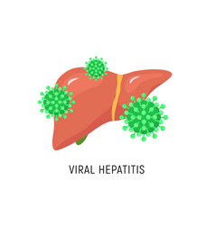 Viral hepatitis cartoon liver diagram hepatic vector