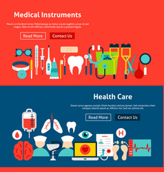 website health care banners vector image