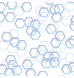 white abstract with blue polygon background vector image