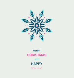 winter events colorful ornate shape ice snowflake vector image