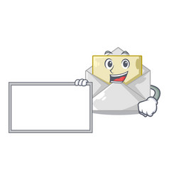 With board opened and closed envelopes shaped vector