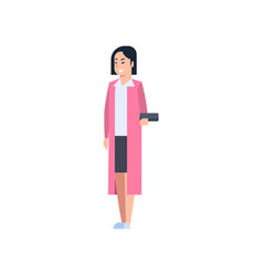 Young asian woman chinese or japanese female vector