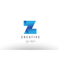 Z blue gradient alphabet letter logo icon design vector