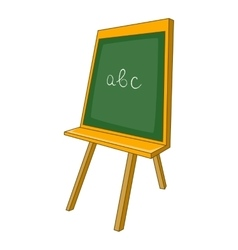 Green chalkboard icon cartoon style vector image