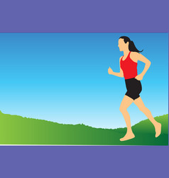 jogging in the morning vector image vector image