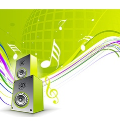 musical theme vector image