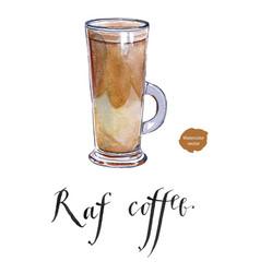 raf coffee vector image vector image
