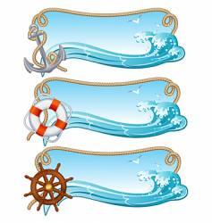 sailing banner vector image vector image
