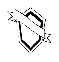 shield guarantee premium label sketch vector image vector image