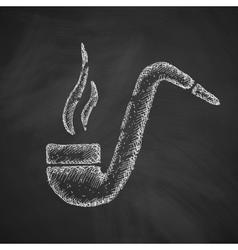 tobacco pipe icon vector image