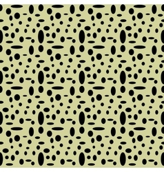 Circle and oval seamless pattern vector image
