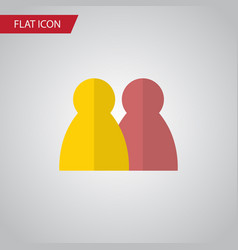 isolated multiplayer flat icon people vector image