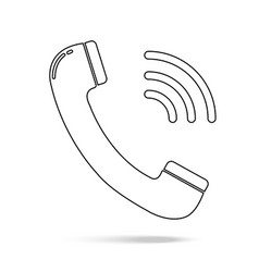 outline phone icon in trendy flat style isolated vector image