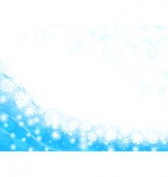snowflake frame vector image vector image