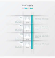 timeline report design template blue gradient vector image vector image