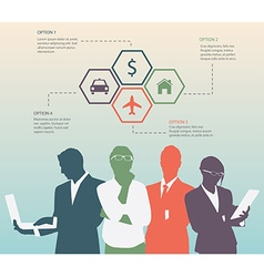 Color Silhouettes of Businessman vector image vector image