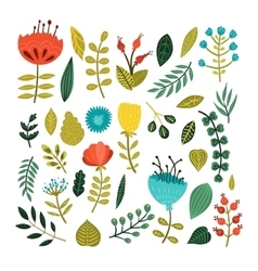 Cute floral collection vector image vector image