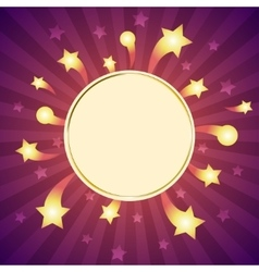 white frame isolated on sparkle background vector image