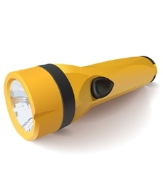 yellow flashlight on a white background vector image