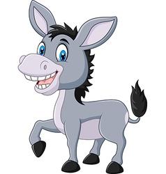 Adorable donkey isolated on white background vector image