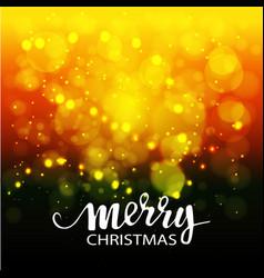 christmas abstract bokeh background vector image vector image