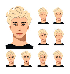 man face with different emotions vector image