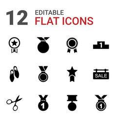 12 ribbon icons vector