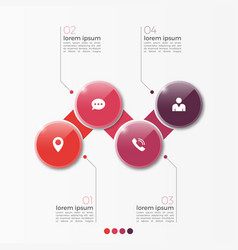 4 option infographic template with circles vector image