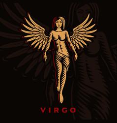 A virgo zodiac sign vector