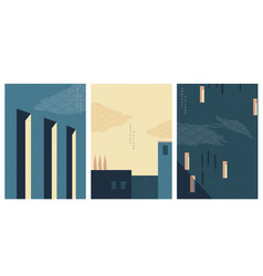 Abstract architectural background with japanese vector